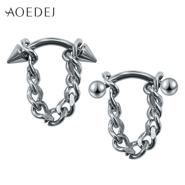 246bfbdd0 AOEDEJ Tassel Earrings For Mens Stainless Steel Ear Studs For Men Women  Dangling Earrings Jewelry Punk