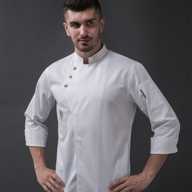 Chef jacket uniform clothing food service catering restaurant kitchen work chef outfit cook jacket uniform clothes DD1436