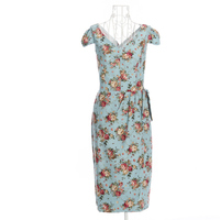 Candow Look Clothes Online Rose Flower Elegant Sexy Novelty Party Cocktail Designs 50s Rockabilly Pinup Pencil