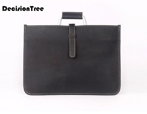 Briefcase-Bag Mature Crazy-Horse Handbag Messenger-Shoulder-Bag Vintage Genuine-Leather