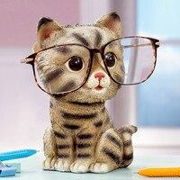 cat ornaments glasses holder creative home furnishing gift kitten ornaments office shelf decoration cute cat figurine statues