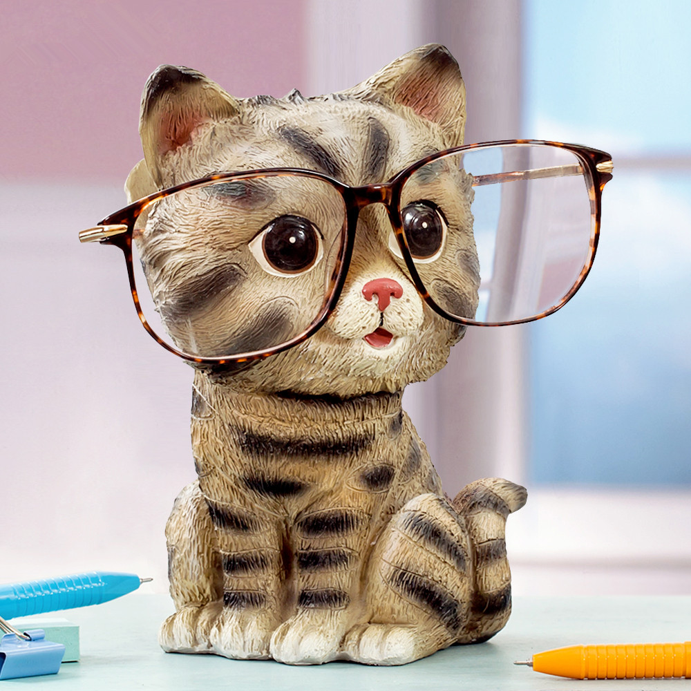 Cat ornaments glasses holder creative home furnishing gift for Cat decorations home