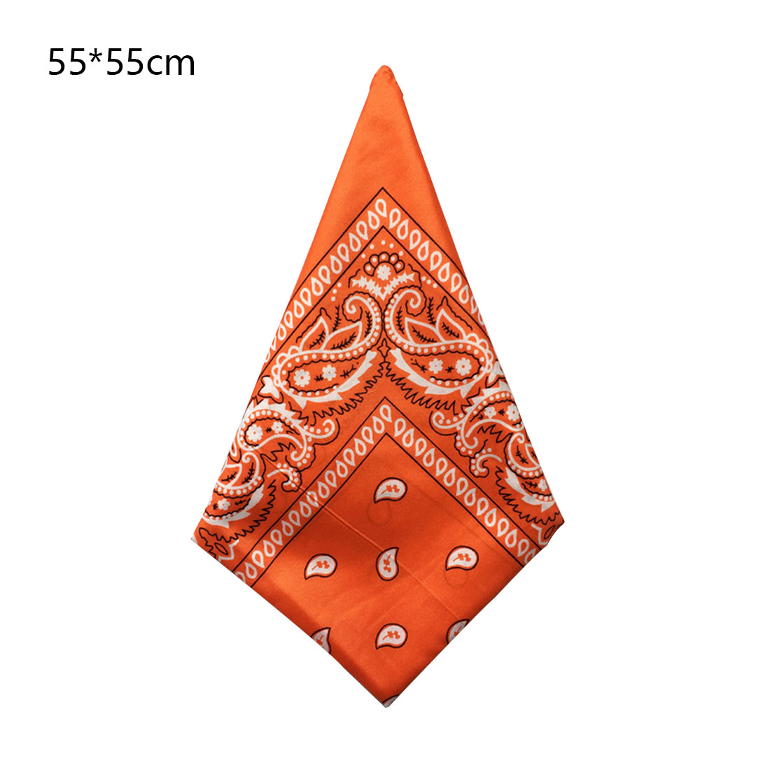 2017 Comfortable Sales 55Cm*55Cm Black Red Paisley Printed Bandanas For Women/Men/Boys/Girls(China)