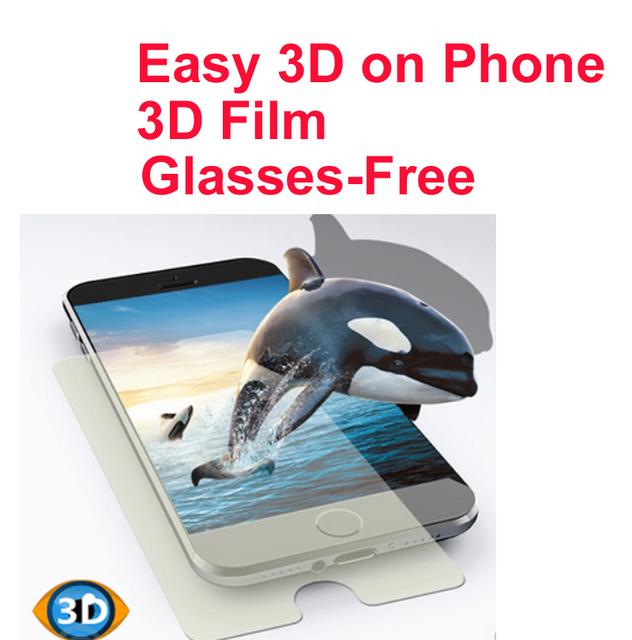 Para iphone 6 plus 3d gafas de cine fácil película 3d en 3D teléfono film film protector de pantalla ver películas EN 3D sin gafas