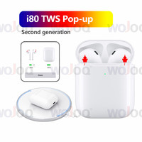 i80 TWS Original 1:1 Air2 Wireless Bluetooth Headsets tws i80 PK W1 chip i20 i30 i60 i100 for Apple iPhone i80 TWS Hifi Earbuds