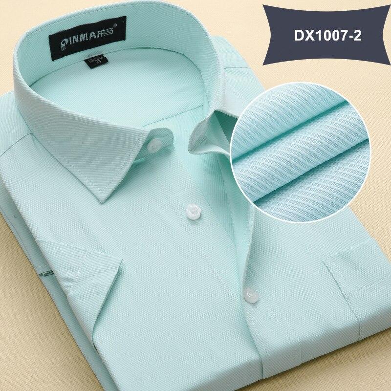 Летняя Стильная мужская одежда, мужская повседневная рубашка с коротким рукавом и отложным воротником, мужские рубашки, одноцветные рубашки для мужчин - Цвет: DX10072