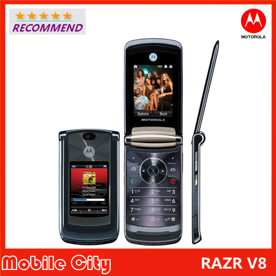 US $46 3 |Refurbished V8 Original Motorola RAZR2 V8 cell phone 2GB ROM  Support English & Russia keyboard 4 Colors In Stock Free Shipping-in Mobile