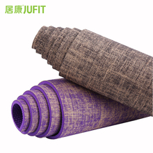 JUFIT 1830*610*5MM PVC+Flax Yoga Mat Exercise Sports Mats For Fitness Gym Environmental Tasteless Pad цена 2017