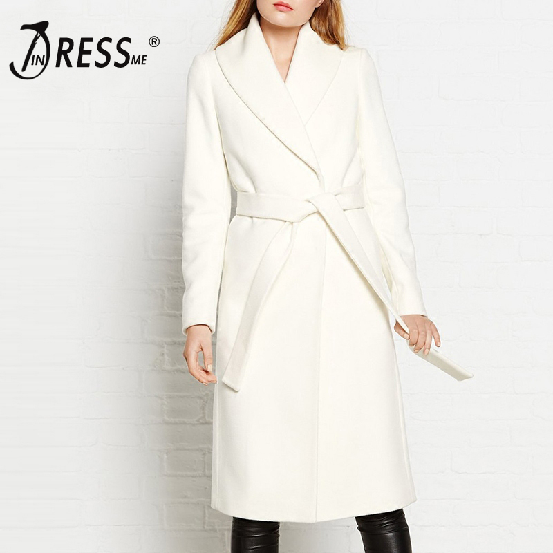 INDRESSME Casual Streetwear Full Sleeve Turn Down Collar Women Trench Fashion Sashes Belt Long Wide Waisted Women Coat  2019 New