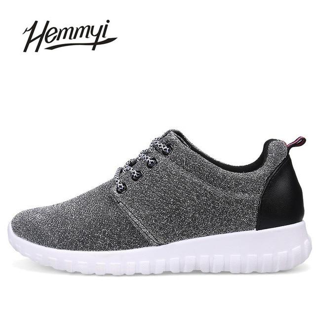 HEMMYI New 2017 Fashion New Shiny Casual Women Superstar Shoes Tenis Feminino The Increased 4CM Basket Femme Chaussure Femme