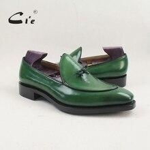 Cie/мужские туфли на плоской подошве с квадратным носком, сделанный вручную с патиной, из телячьей кожи, с дышащей подошвой, без шнуровки лоферы на заказ