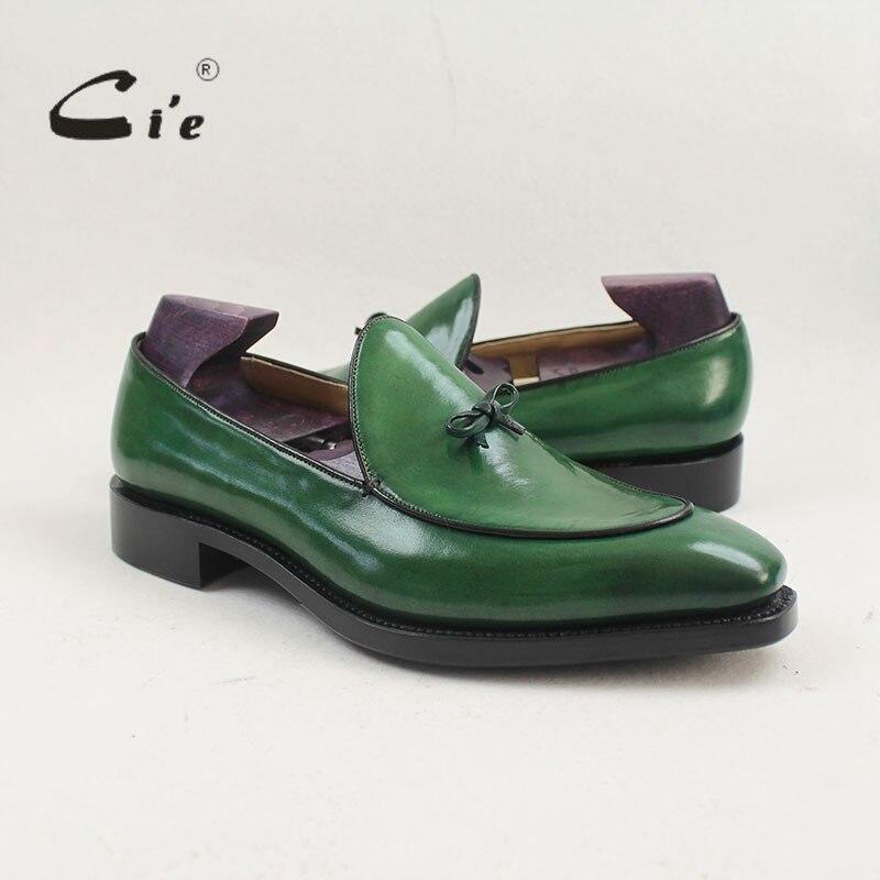 CIE квадратный носок расписанную ручной работы патина 100% телячьей кожи дышащие нижняя подошва Slip-On Для мужчин; обувь на плоской подошве Лофер...