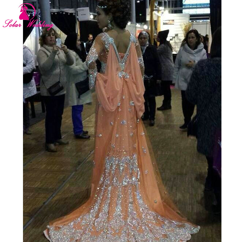 Luxury Caftan Marocain Islamic Abaya in Dubai Evening Dress Long Sleeve  Prom Gowns Moroccan Kaftan-in Evening Dresses from Weddings   Events on ... c1b1cb4b7a59