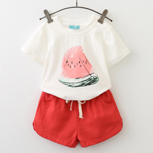 Girls Suits 2018 New Summer Style Beautiful Floral Flower Sleeve Children Vest Clothing Shorts Suit With Belt 2 Pieces Clothes