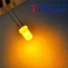 YongYeTai светодиодный 5 мм круглая голова белые волосы желтый