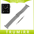 Stainless Steel Watchband All Links Removable + Adapters for iWatch Apple Watch 38mm 42mm Band Wrist Strap Bracelet Black Silver