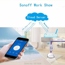 Sonoff - ITEAD WiFi Wireless Smart Switch Module ABS Shell Socket for DIY Home 3 5 6 10pcs sonoff smart wifi wireless switch module app ewelink remote control smart home automation kit for sonoff itead