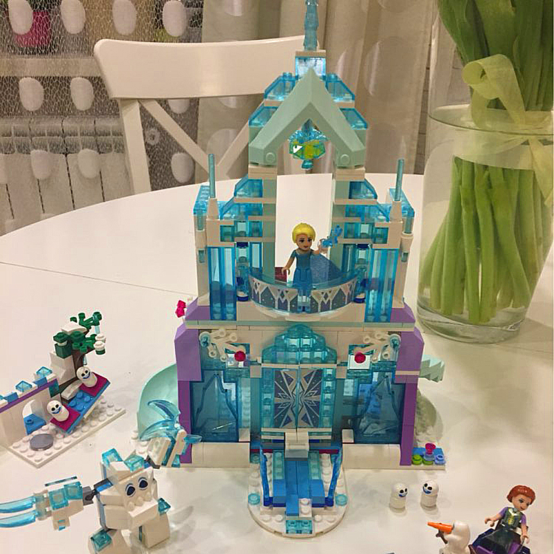 Lepin 25002 Girl Friends Elsa's Magical Ice Castle 3D Building Blocks Bricks Children Educational Toy compatible with LegoINGlys туфли детские 25002 р26 кожа карамель розовый ean 4606363295402
