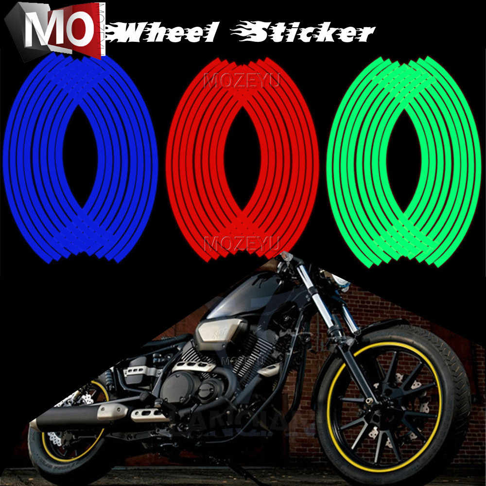 Motocross Bike Motorcycle Wheel Sticker Motorbike Moto Stickers For Yamaha  MT-01 MT-02 MT-03 MT-07 MT-09/Tracer MT-10/ABS