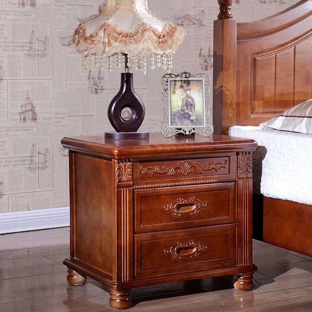 € 229.13 10% de réduction|Armoire de chevet est simple, moderne en bois  massif équipé de chambre chevet armoire de rangement table de chevet ...