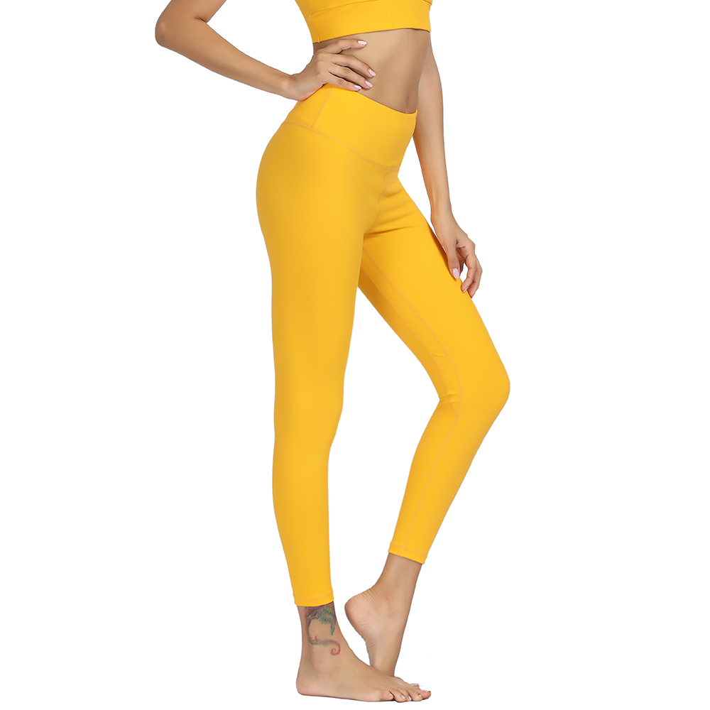 Women Yoga Pants Solid High Waist Push Up Energy Seamless Sport Tight Leggings for Fitness Gym Running Tummy Control Trousers