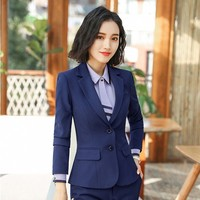 Formal Women Business Blazers and Jackets Coat Long Sleeve Uniform Styles Office Work Wear Ladies Outwear Tops Clothes