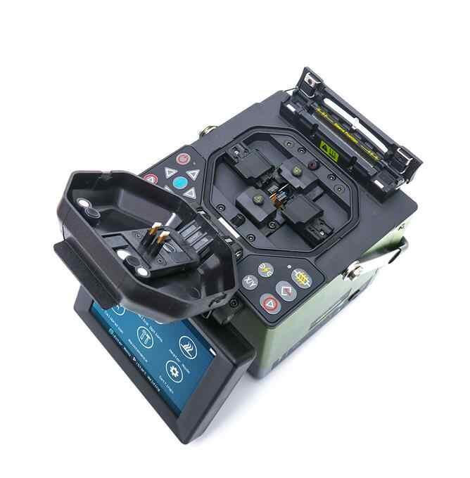 Empalme de fusión de fibra óptica JILONG KL-280G con calentamiento automático de cuchilla de fibra