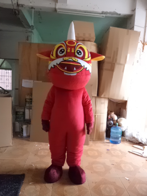 Adult red hair lion mascot costume lion character costume for sale