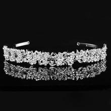 Stunning Rhinestones Flower and Leaves Wedding Tiara Bridal Crown