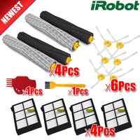3 set brosse + 1 pcs kit de bande de bosse en plastique pour iRobot Roomba 800 900 série 870 880 980 pièces de robot aspirateur sans filtre hepa