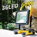 High Power Waterproof LED Flood Light 60W Portable Cordless Work Light Rechargeable LED Flood Lamp for Home Garden Light