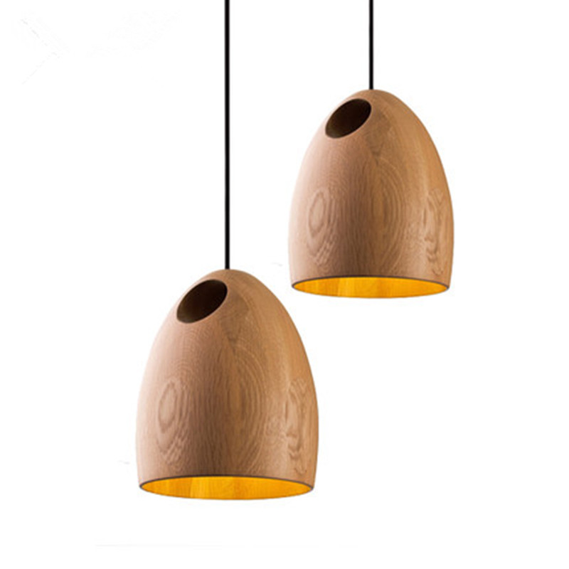 цены Nordic Designer models of modern solid wood hand - carved logs of the simple wooden chandeliers