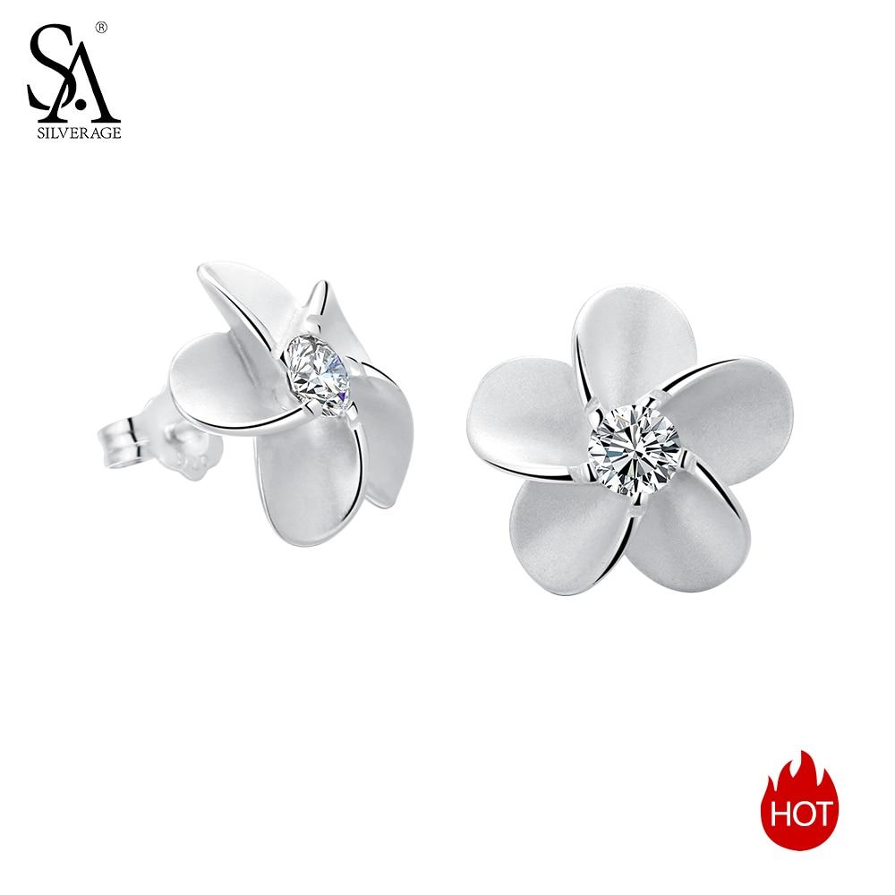 SILVERAGE 925 Sterling Sølv Smykker For Kvinner Blomster Innlagt - Fine smykker - Bilde 4