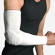 Men's Compression Elbow Pad Oversleeve Sports Arm Sleeve Basketball Breathable Sun UV Protection Elbow Protector Cycling недорого