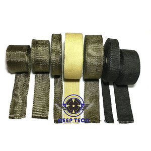 Image 5 - 2x50 Motorcycle Exhaust Wrap Muffler Pipe Header Downpipe Auto Manifold Heat Resistant Wrap With 8 Pcs Cable Ties
