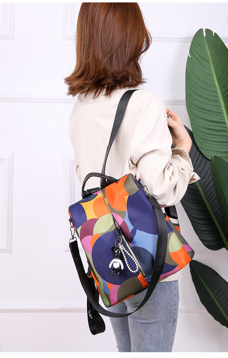 Novo multifuncional mochila feminina à prova dwaterproof