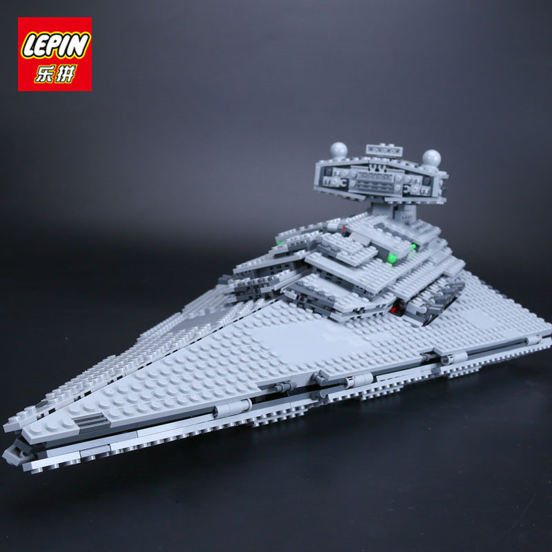 IN STOCK Lepin 05062 The Imperial Super Star Destroyer Set Educational Building Blocks Bricks Compatible Toy Gift 75055 lepin 05028 3208pcs star wars building blocks imperial star destroyer model action bricks toys compatible legoed 75055