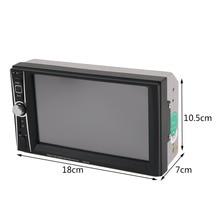 Профессиональный Сенсорный экран автомобиля Радио Mp5 плеер 7 дюймов Bluetooth Mp5 аудио 1080 P фильм Поддержка заднего вида Камера 2 DIN аудиомагнитолы автомобильные
