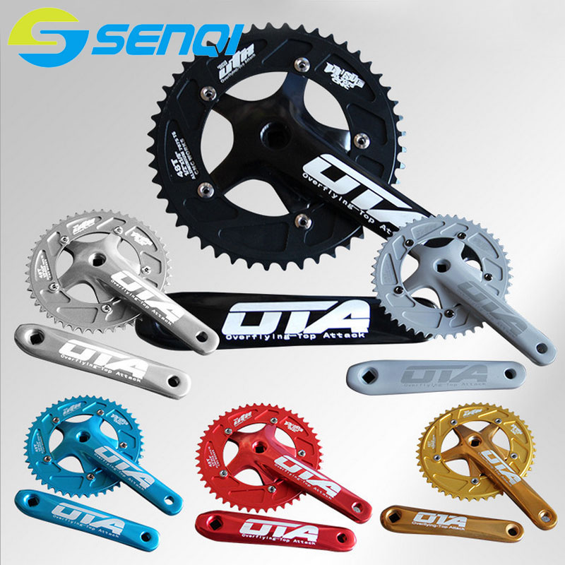 Bicycle Chain Wheel Fixed Gear 48T Aluminum Alloy CNC Cycling Racing Bike Accessories With Crank road bicycle crankset 7 8 9speed folding bike crank chain wheel 34t 50t cnc aluminum alloy gear tooth disc with bottom bracket