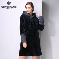 Genuine Leather women fur coats Double faced Fur coat women sheepskin coat sheep skin fur coat women Detachable sleeve