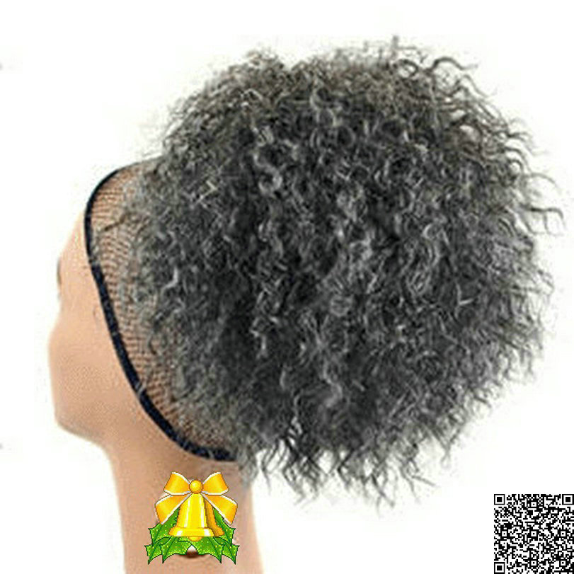 Grey Hair Drawstring Ponytail | foxy silver synthetic