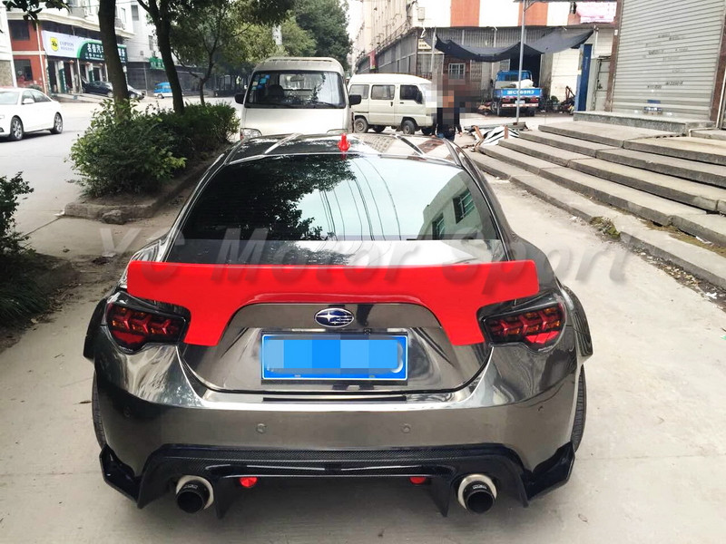 GT86 FT86 ZN6 FRS BRZ ZC6 Greddy X Rocket Bunny Ver.2 Style Rear Spoiler Wing CF (24)