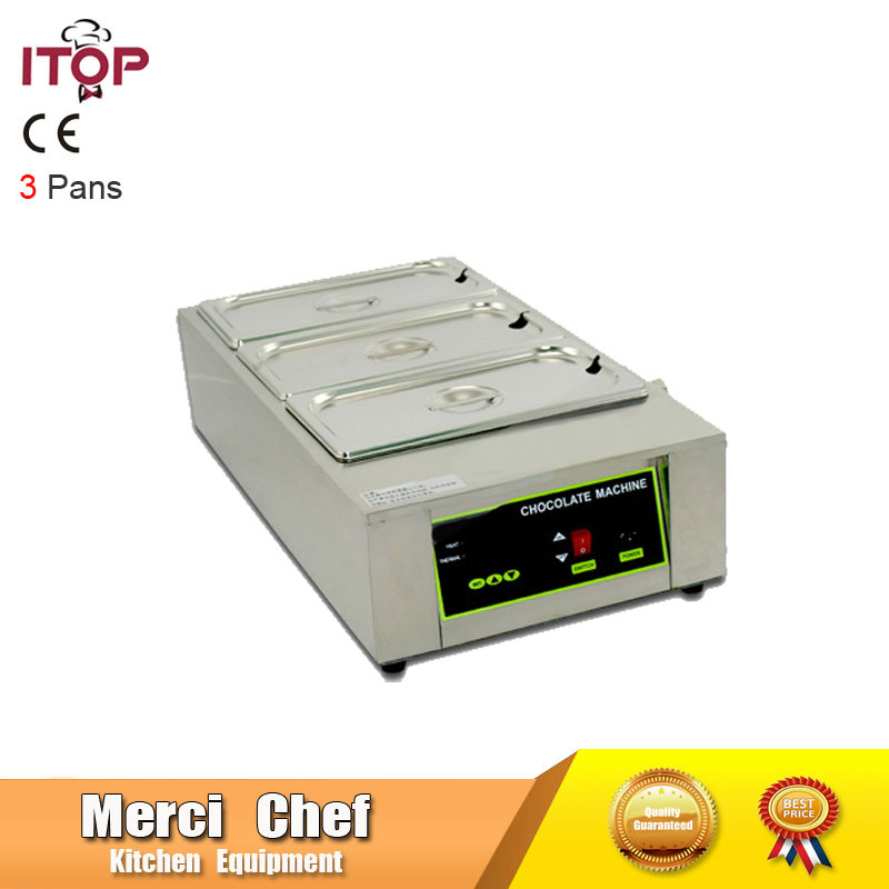 Fast Shipping Food Machine Digital Chocolate Melting Machine Stainless Steel Chocolate Machine Household and Commercial free ship new premium fast food equipment commercial package double grilled hamburger machine price