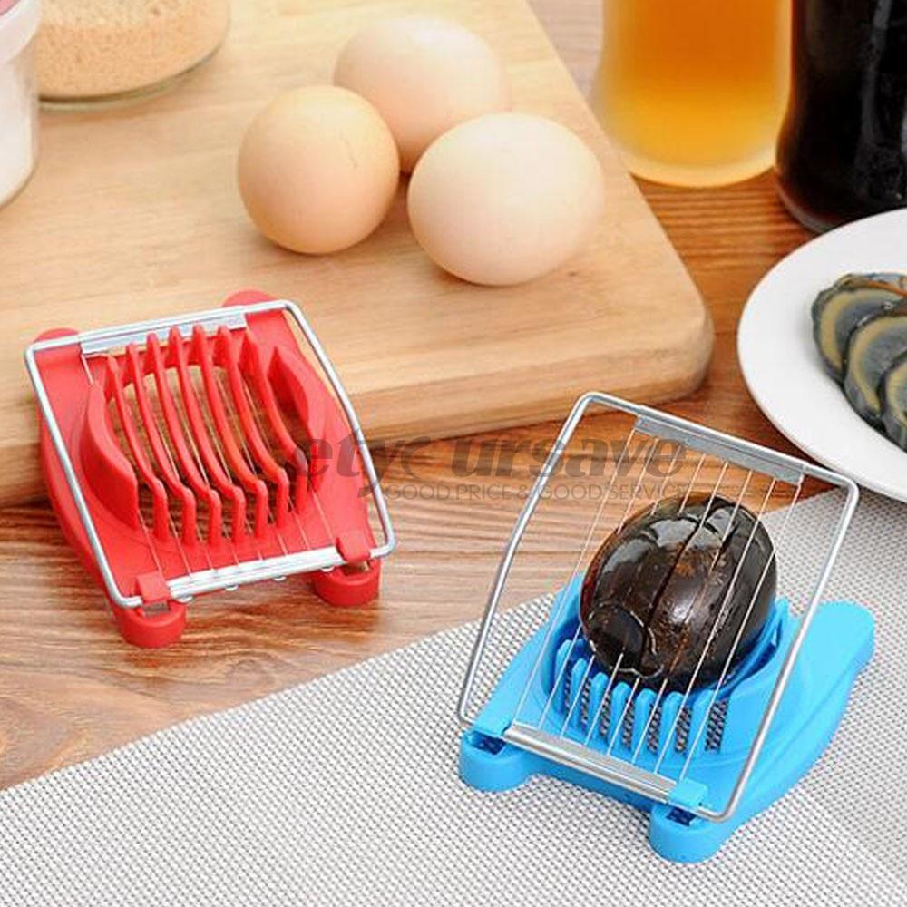 Stainless Steel Boiled Egg Slicer Cutter Chopper New