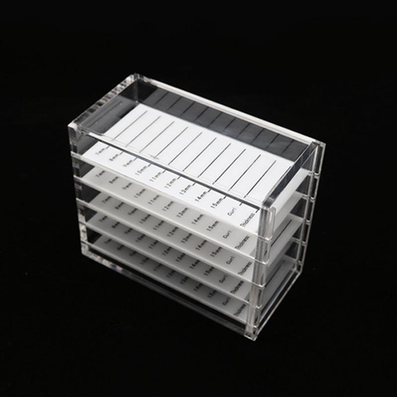 5 Layers Eyelash Storage Box Makeup Display Container Eyelashes Glue Pallet Holder Grafting Eyelash Transparent Box Dropship