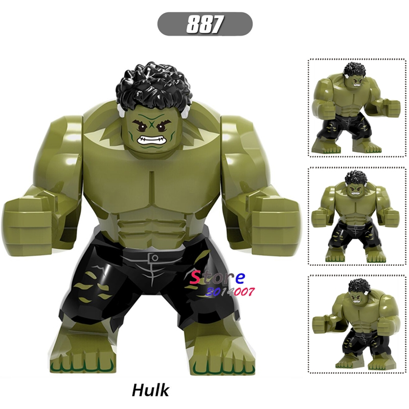 Single Big Size Marvel Avengers Infinity War Hulk Bruce Banner Thanos Iron Man SpiderMan building blocks