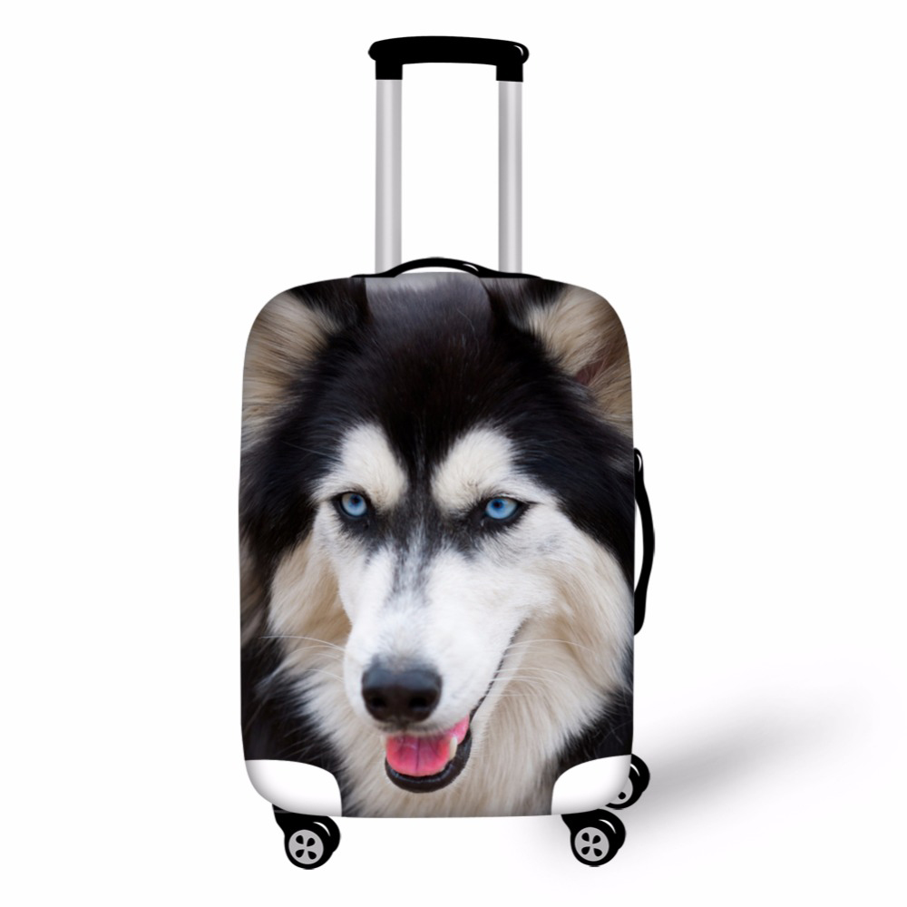 3D Animals Print Travel Luggage Cover Strech Fabric Wolf Tiger Horse Baggage Protective Covers For Trolley Suitcase