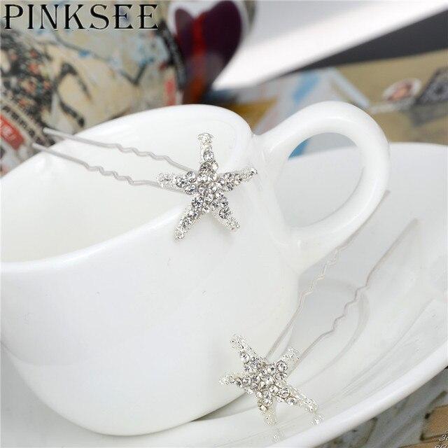 Crystal Star Hair Clips Bridal Wedding Accessories 8