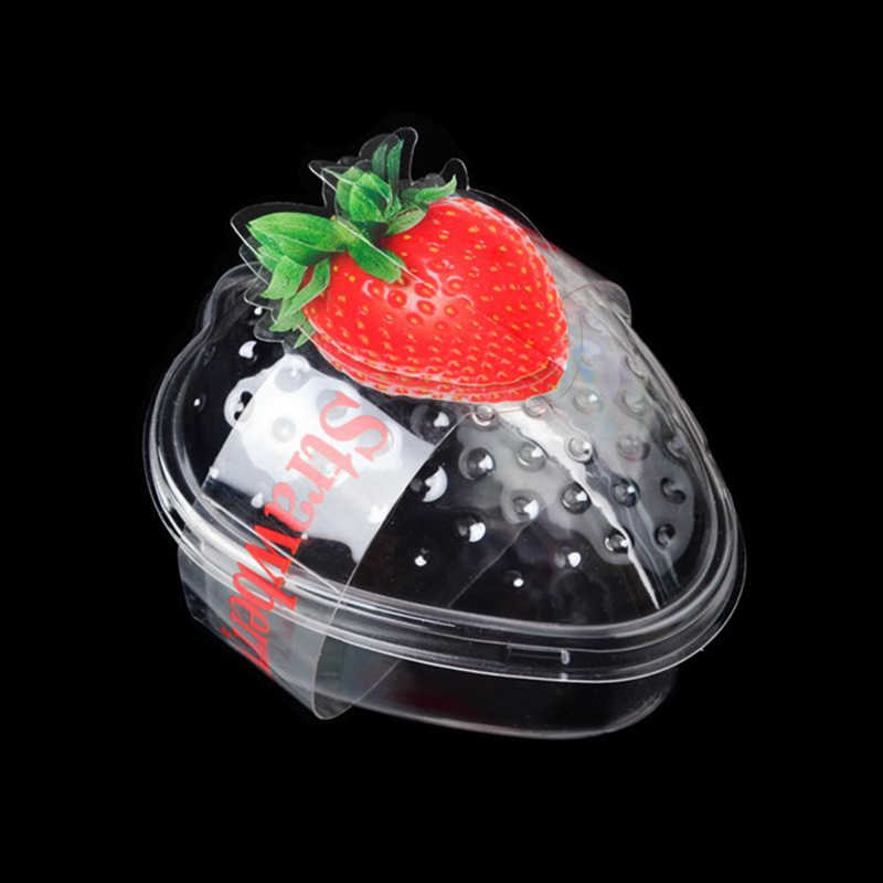 Happy Monkey 25pcs/Lot Slime Box New Plastic Strawberry Slime Container Transparent Storage Box For Fluffy Clear Cloud Slime
