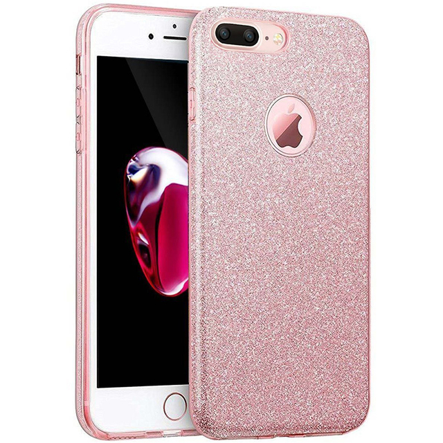 huge discount aec76 32a87 US $4.99 49% OFF|Ascromy For iPhone 8 Plus Case Bling Luxury Glitter Phone  Back Cover Case for Apple iPhone 7 6 6S X 5 5S SE 10 Coque Accessories-in  ...